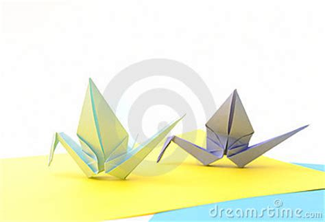 Origami Article - origami birds child paper articles royalty free stock