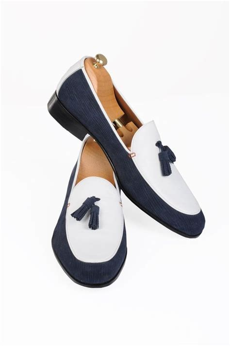 blue and white loafers handmade blue and white loafer shoes loafers