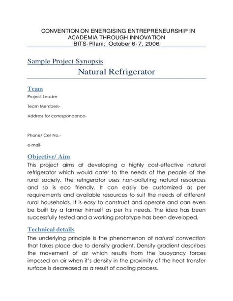 research synopsis template sle project synopsis