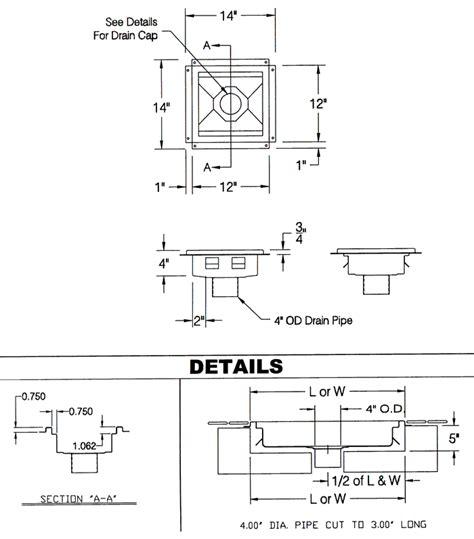 Floor Sink Detail by Drain And Floor Covers