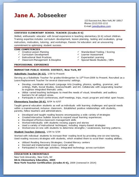 what is the best resume format for teachers free sle resume for teachers best resume collection