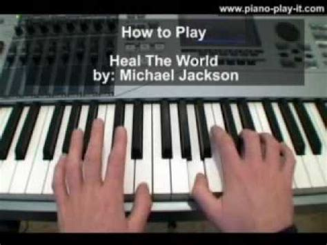 tutorial piano michael jackson heal the world michael jackson piano tutorial youtube