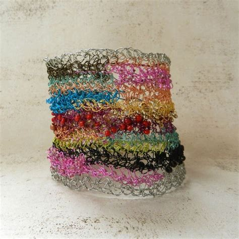 rag rug bracelet 1000 images about jewelry wire crochet knit on copper bracelets and wire necklace