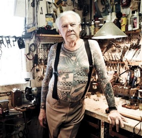 old man tattoos lyle tuttle tattooed school