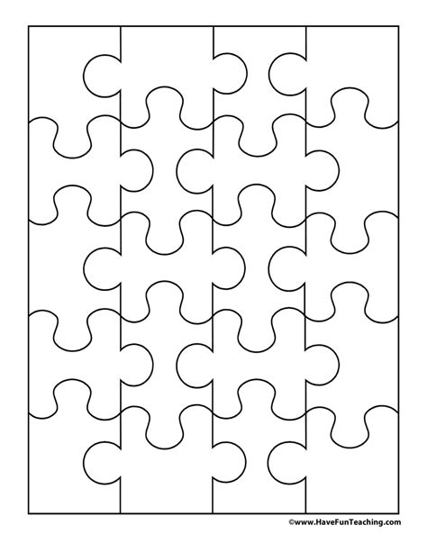 puzzle template 20 pieces blank puzzle 20 pieces teaching