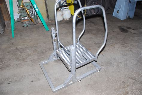 stainless steel osha safety step stool ladder nsf food