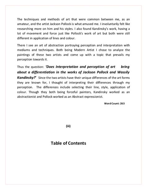 Artwork Essay Topic by Extended Essay Visual Arts 2012