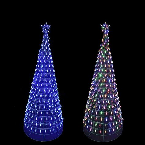 tree with color changing led lights home accents 6 ft pre lit led tree sculpture with