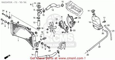 Honda Cbr600f3 Super Sport 1995 Usa Radiator F3 95