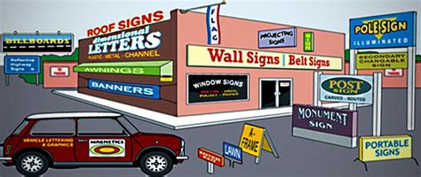Car Company Types by 5 Types Of Signs Every Business Needs Sign It