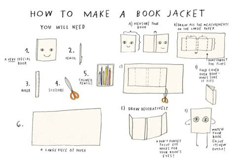 How To Make A Paper Story Book - the jacket a sweet illustrated meta story about how we