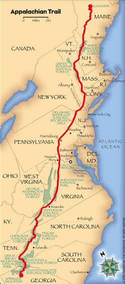 how long is the georgia section of the appalachian trail section hiking the appalachian trail