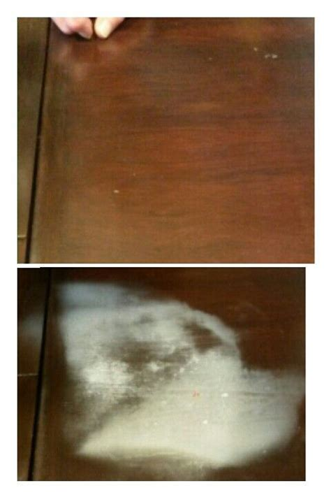 how to take a heat stain out of a wooden table use a thin