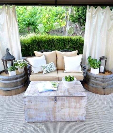 Patio Wine Barrel Table Design Pictures Remodel Decor Wine Barrel Patio Table