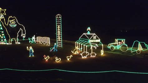 christmas lights display at reynolds farm equipment