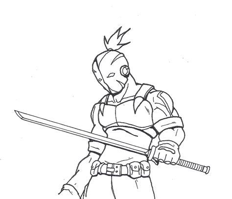 simple ninja coloring pages modern ninja by annyd on deviantart