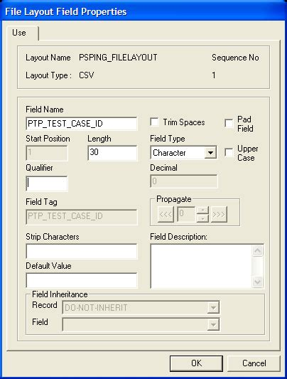 file layout questions in peoplesoft specifying file layout record and field properties