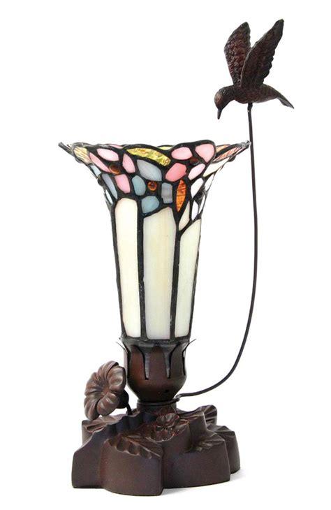 light  remembrance pink tiffany style lamp  hummingbird
