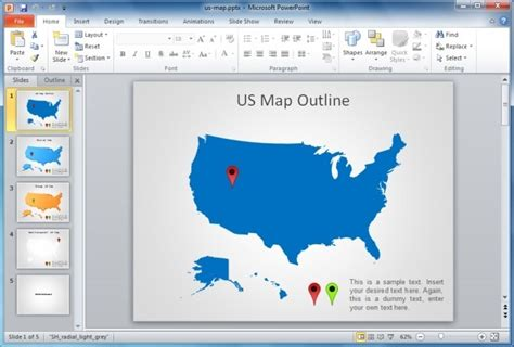 powerpoint map template using maps in powerpoint presentations