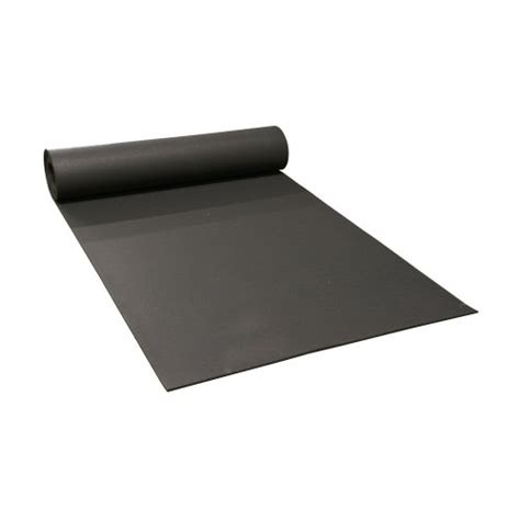 rubber cal recycled floor mat black 1 4 inch x 4 x 4