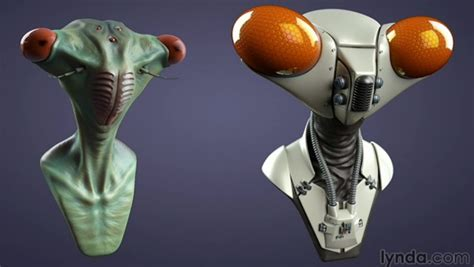 zbrush tutorial lynda cinema 4d and zbrush creature design tutorial vfxer com