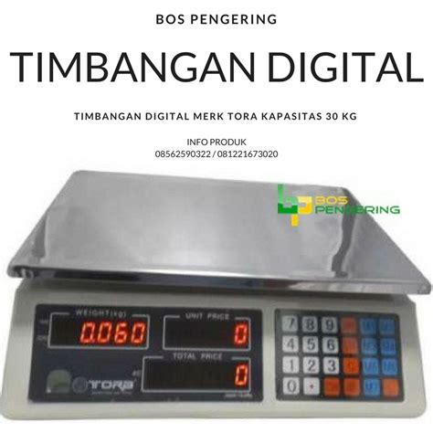 Timbangan Digital Merk Tora produsen konversi modifikasi pengering laundry bandung