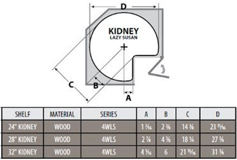 lazy susan cabinet sizes kidney shaped lazy susan installation information
