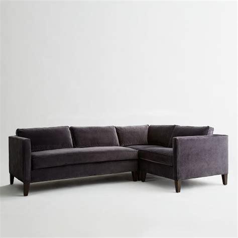West Elm Dunham Sectional by Dunham Filled 3 Sectional Box Cushion