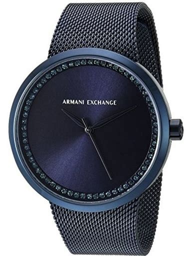Armani Exchange Ip Blue Liv order armani exchange liv blue mesh