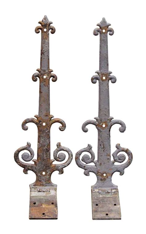 decorative door hinges pair of iron decorative strap hinges olde good things