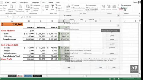 tutorial in excel 2013 data analysis using solver excel 2013 beginners tutorial