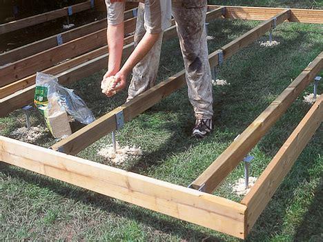 terrasse unterbau unterbau holzterrasse holzterrasse bauen untergrund
