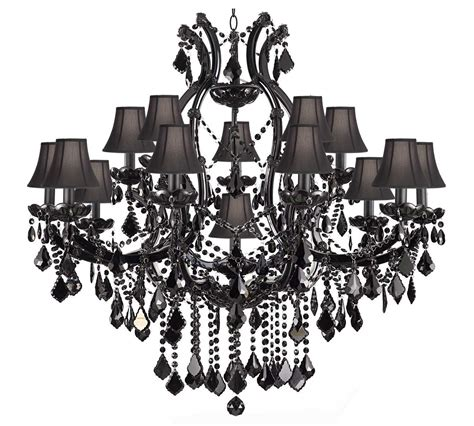 Triarch Lighting Chandeliers A83 Sc Black 21510 15 1 Jet Black Crystal Chandelier