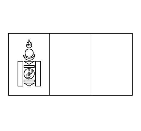 Dibujo De Mongolia Para Colorear Dibujos Net Mongolia Flag Coloring Page