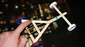 How to make a rubber band powered car homemade toy youtube