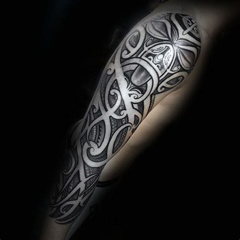 negative space tribal tattoos 40 polynesian sleeve designs for tribal ink ideas
