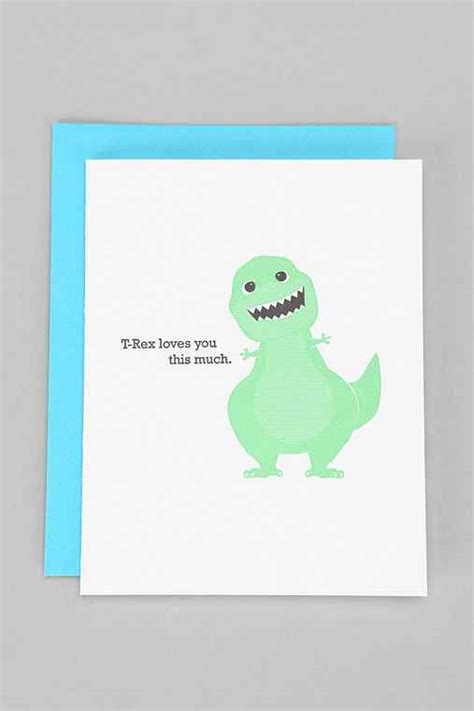 Urban Outfitter Gift Card - mcbittersons t rex loves you card urban outfitters