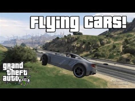 gta v: flying cars! (low gravity cheat code) — hack cheat