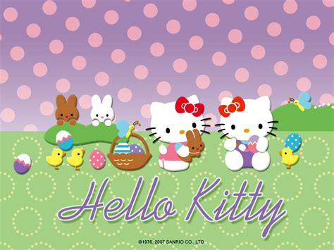 Free Hello Kitty Easter Wallpaper | hello kitty easter wallpapers hello kitty forever