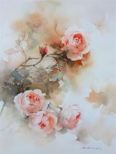 watercolor tutorials on pinterest phatcharaphan s roses tutorial watercolor technique 5