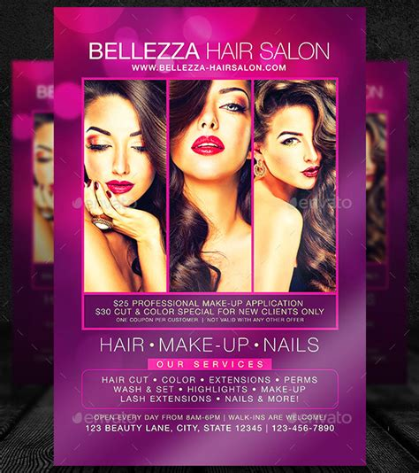 hair salon flyer template 66 beauty salon flyer templates