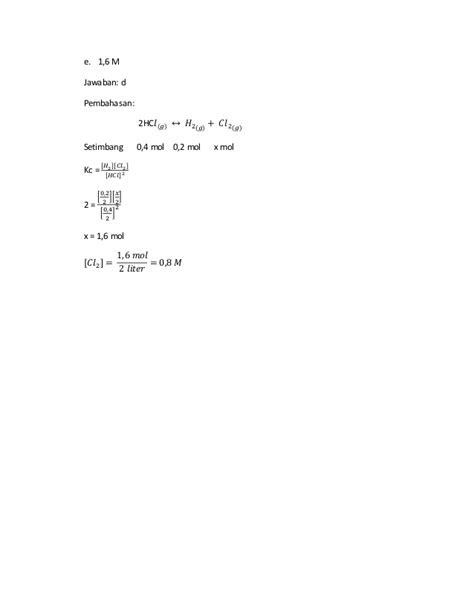 2014 - SKL Kimia dan contoh soal serta pembahasannya
