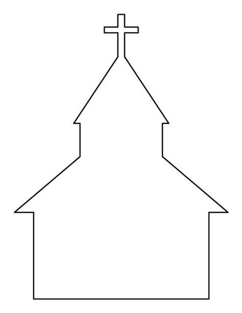 church template church pattern use the printable pattern for crafts