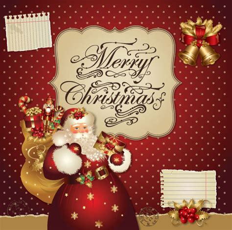 free christmas cards santa claus cards santa claus greeting cards 5 free vector graphic download