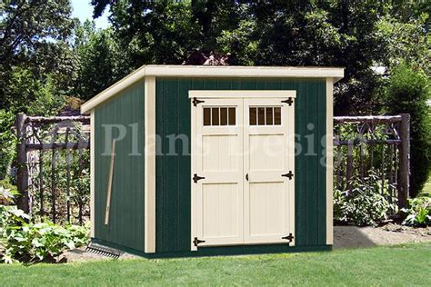 Modern Storage Shed Plans by 6 X 8 Wooden Garden Deluxe Modern Storage Shed Plans