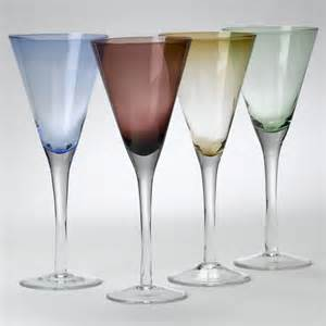 Glass Ware Colored Flutes Glassware Rental Partysavvy