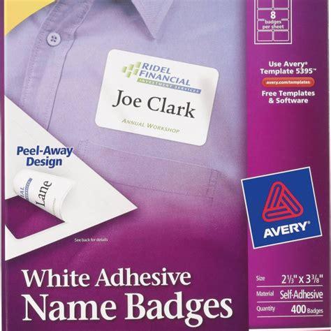 avery 174 white adhesive name badges 5395 avery online