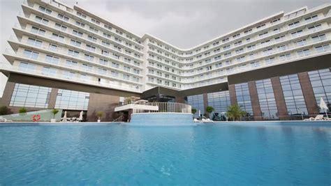 sochi russia jul 27 2014 water of pool near hotel