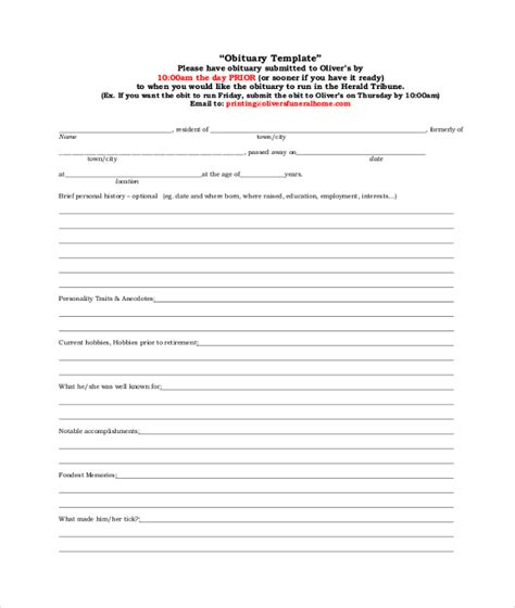 obituary outline template blank obituary outline pictures to pin on