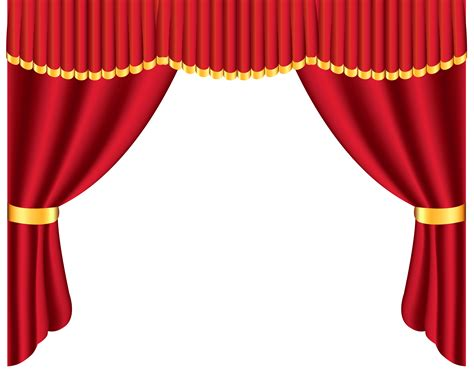 art curtains red curtain clip art clipart best